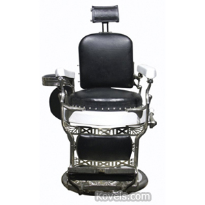 Barber Chair Leather Seat Back Koken | Kovels' Price Guide