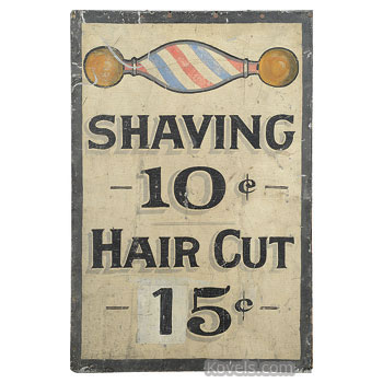 Antique Barber Advertising Amp Store Collectibles Price