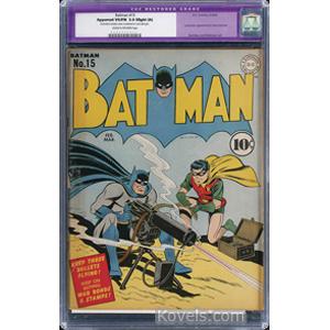 Batman Comic Book No 15 February 3 1945 | Kovels' Price Guide