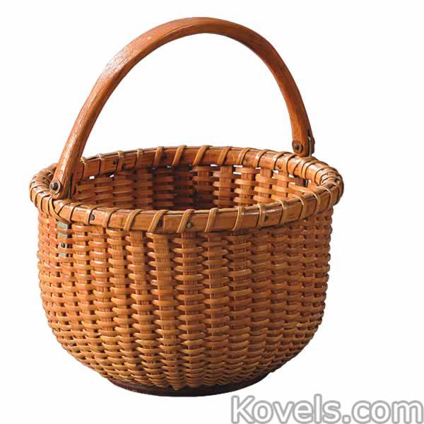 Basket Weaving Handles : Antique baskets folk art ethnic price guide antiques