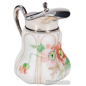 Crown Milano Syrup Wild Roses Silver Spout Bulging Ovals | Kovels' Price Guide