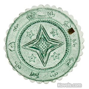 Cup plate Star 5-Point Stars Stippled Rope Border 34 Scallops Light Green | Kovels' Price Guide