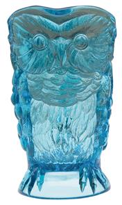 Higbee Pitcher Owl Blue Molded Eyes