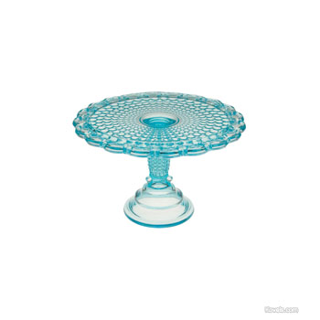 Scalloped Cake Stand With Ribbon