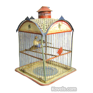 Birdcage Tin Painted Domed Roof | Kovels' Price Guide