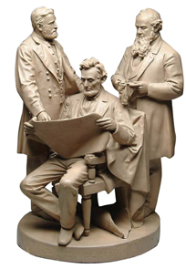 John Rogers Group Council Of War Lincoln Grant Stanton 1868