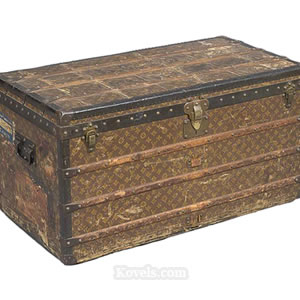 Vintage Steamer Trunks Antique Trunks  Miscellaneous Price Guide  Antiques .