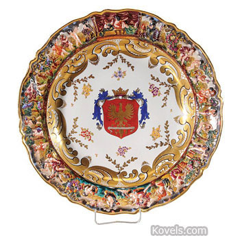 Antique capo di monte pottery porcelain price guide antiques capo di monte charger thecheapjerseys Images