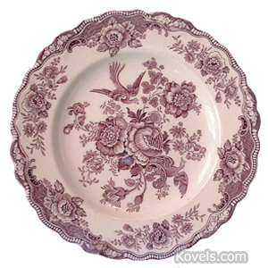 Crown Ducal Plate Asiatic Pheasants Mulberry Transfer | Kovels' Price Guide