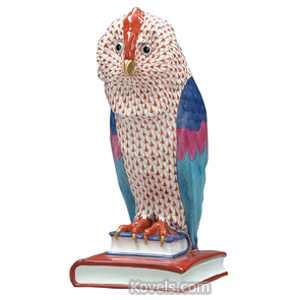 Fischer Figurine Owl Perched On Books