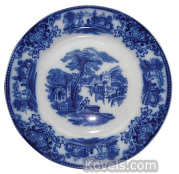 Flow Blue Plate ...  sc 1 st  Kovels.com & Antique Flow Blue | Pottery u0026 Porcelain Price Guide | Antiques ...