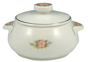 Hall China Rose White Dip Jar Cover No 658,