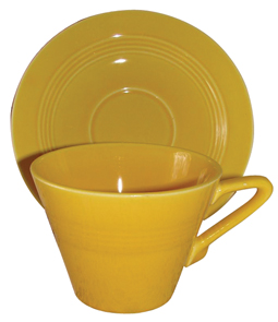 Harlequin Yellow Cup Saucer