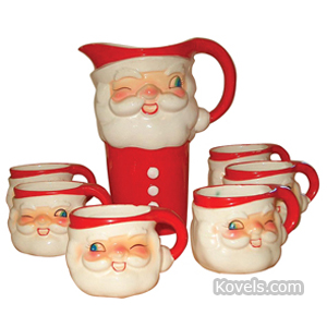 Holt-Howard Egg Nog Set Santa 7