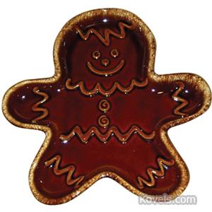 Hull Tray Gingerbread Man Brown Glaze
