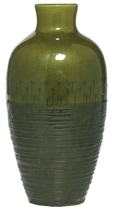 Kenton Hills Vase Raised Decoration Brazilian Cats-Eye Glaze We Hentschel 1