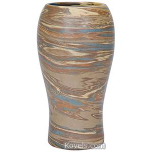 Niloak Vase Marbleized Bulbous Top