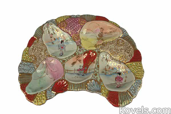 Oyster Plates ...  sc 1 st  Kovels.com & Antique Oyster Plates | Pottery u0026 Porcelain Price Guide | Antiques ...