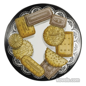 Pottery-Midcentury Plate Biscotti Arranged On Doily Trompe Loeil P Fornasetti C1950