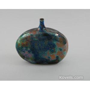 Pottery-Midcentury Vase Luster Glaze Signed Laura Andreson C1970