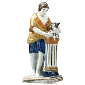 Pratt Figurine Man Standing At Column About To Sacrifice Lamb