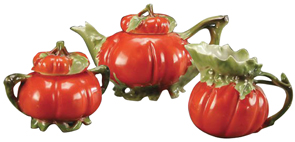 Royal Bayreuth Tea Set Tomato Shape C1900