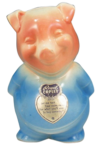 Royal Copley Bank Pig
