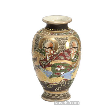 Photo 1 Of 7 Nice Anese Satsuma Vase Value Antique