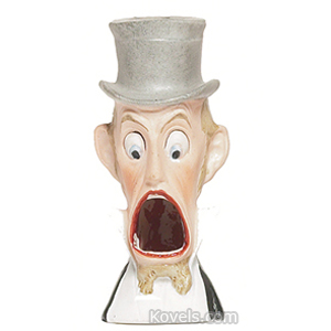 Schafer Vater Match Holder Man In Top Hat Open Mouth Match Holes