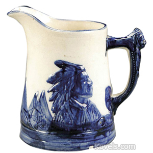 Sleepy Eye Pitcher Blue White No 4