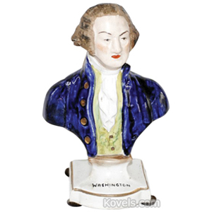 Staffordshire Bust George Washington C1850
