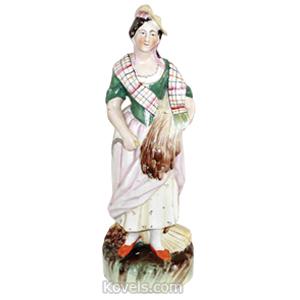 Staffordshire Figurine Gleaner C1850