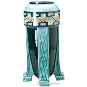 Villeroy Boch Vase Jugendstil Style Mushrooms 4 Buttress Feet Marked