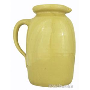 Yellowware Creamer Rolled Rim