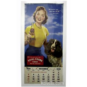 Calendar paper 1950 Royal Crown Cola Ann Blyth | Kovels' Price Guide