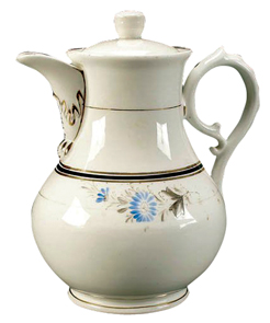 Kpm Coffeepot Flowers 20th Century