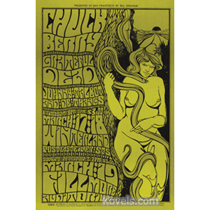 Poster Chuck Berry Grateful Dead Fillmore Auditorium March 19 1967 Nude With Snake