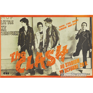 Poster The Clash French Concert Tour 18 Octobre 1977