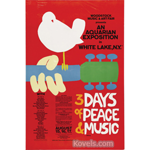 Poster Woodstock Concert 3 Days Of Peace Music 1969