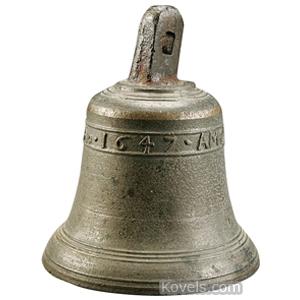 Bell Bronze Hemony Style Embossed Inscription Amor Vincit Omnia Ao 1647 | Kovels' Price Guide