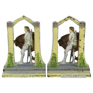 Bookends Sir Galahad With Horse In Archway Cast Iron | Kovels' Price Guide