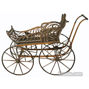 Carriage Baby Buggy Wicker 2 Sleigh Runners Wakefield | Kovels' Price Guide