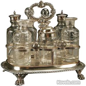 Antique Castor Sets Silver Pewter Brass Copper