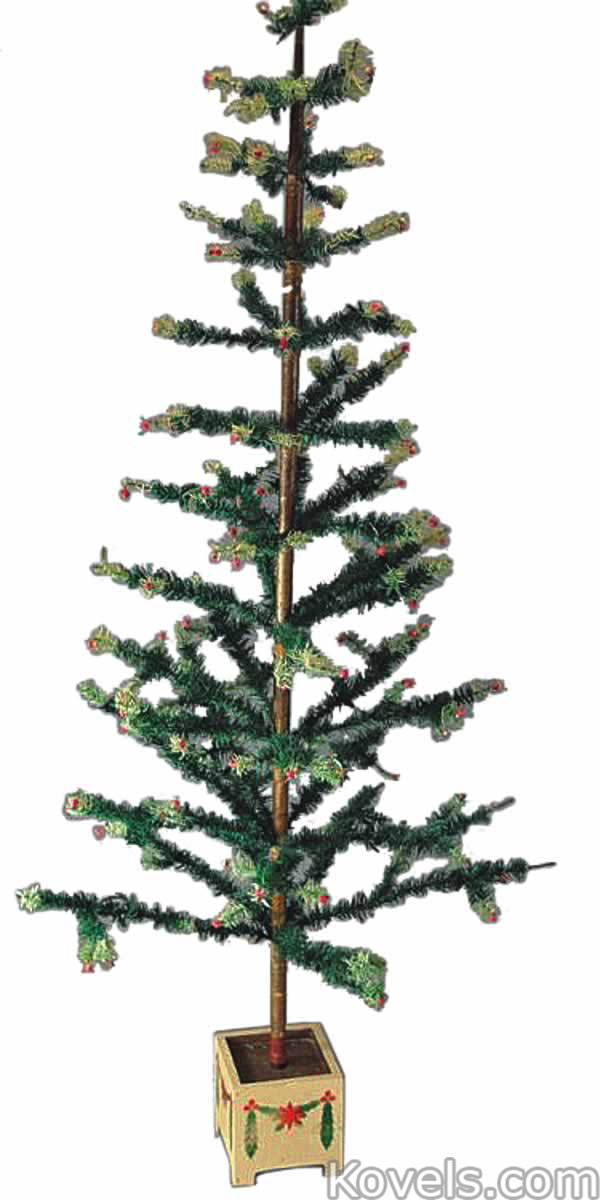 Antique Christmas Trees Silver Pewter Brass Copper Chrome  - Vintage Artificial Christmas Trees