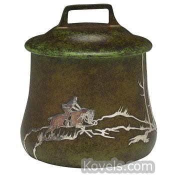 Antique Heintz Art Silver Pewter Brass Copper Chrome