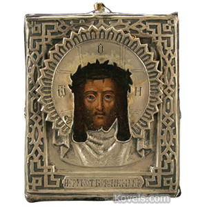Icon Holy Napkin Face Of Christ Moscow 1878,