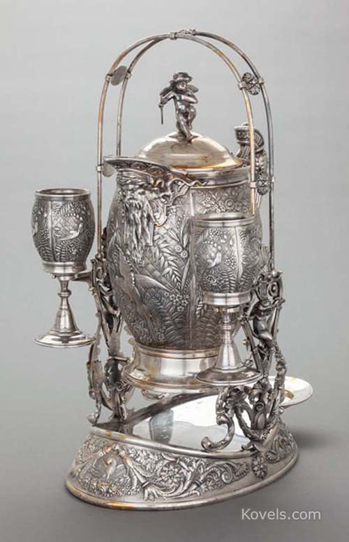 Antique Silver Plate Silver Pewter Brass Copper