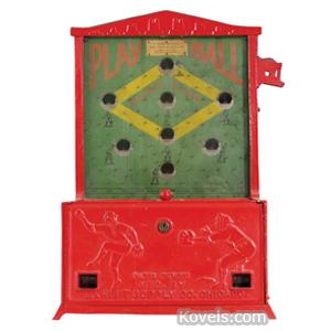 Coin-Operated machine Baseball Play Ball Baseball Diamond Exhibit Supply Co Chicago | Kovels' Price Guide