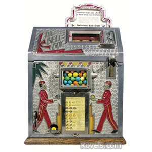 Coin-Operated machine Slot Mills Gumball Dispenser Bell Boy Key 1930s | Kovels' Price Guide