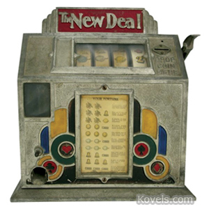 Coin-Operated machine Slot New Deal Trade 1 Cent Painted Card Suits | Kovels' Price Guide